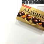 【ニアセお菓子研究部】今日のお菓子「ロッテアーモンドチョコレート」@仕事中