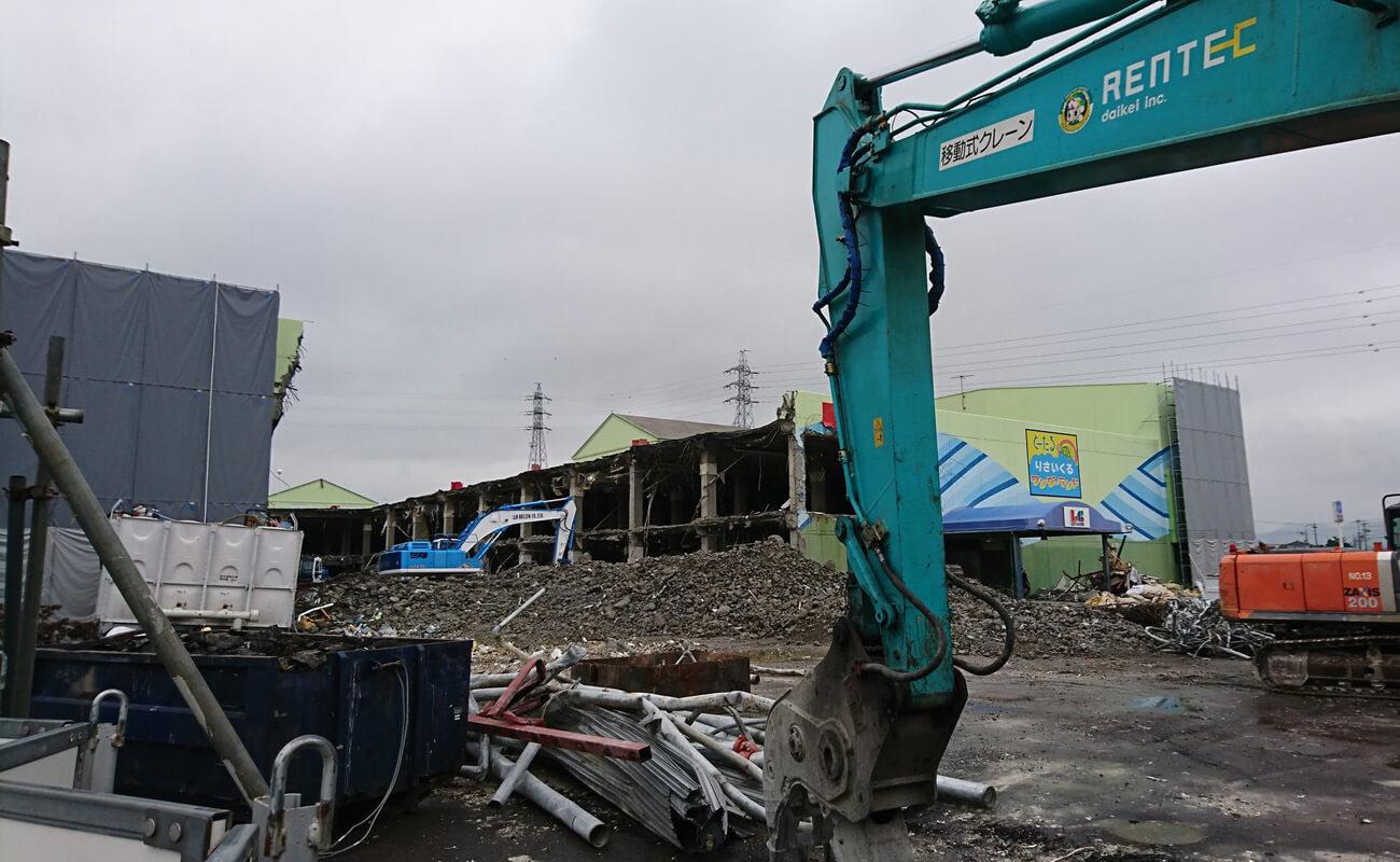 2017年5月にはじまった取り壊し工事。