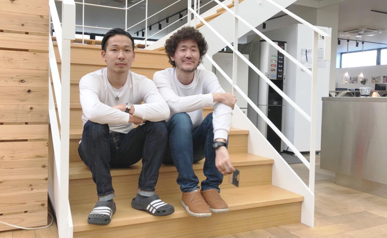 ▲私(左)と松岡氏(右)。撮影は片平氏